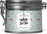 WOWGADGET - White Ice Tea, té blanco helado con sabor a pomelo-arándano para preparar usted mismo - 50 gramos de té a granel en una lata aromática resellable.