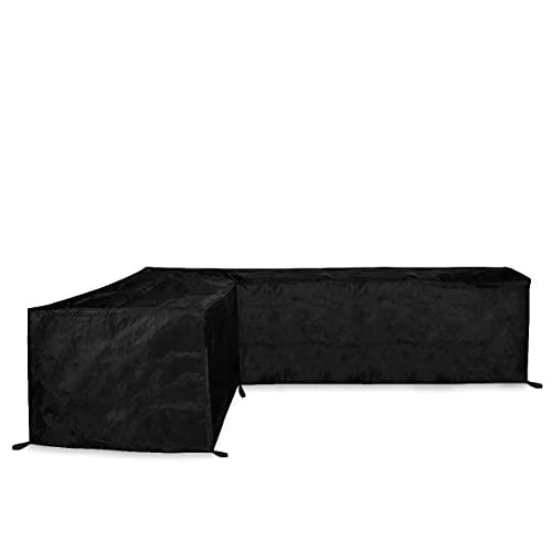 VONROC Premium Garten-Sofa Schutzhülle – L-Form - 250/90 x 250/90 x 70cm - Inkl. Klettverschluss-Binder