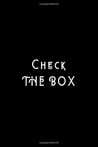 Check The Box: Checklist Stock Pantry Organizational Log Book