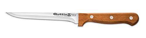 Cuchillo Jamonero-Mini o Filetero de 13cm Mango Madera Natural Quttin-Natur