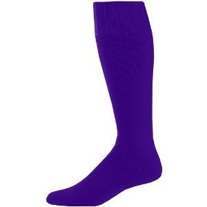 Joe's USA - Baseball Game Socks Purple, Intermediate (9-11)