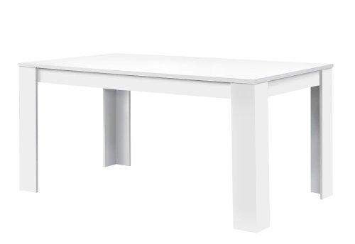Agionda® Esstisch Toledo in Weiss 140 x 90 cm mit kratzfester Melaminharz Beschichtung