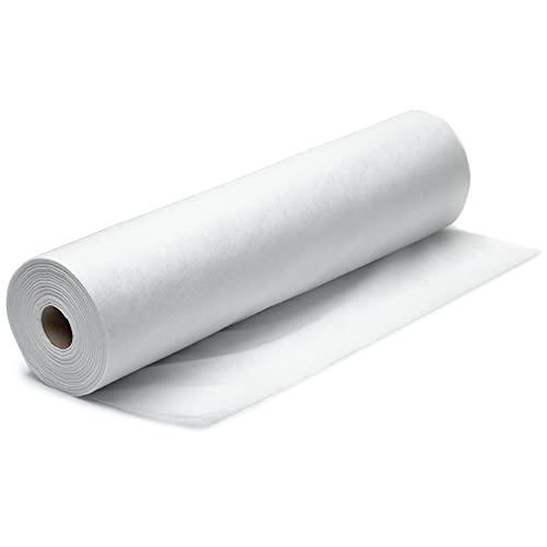 Vliesstoff Meterware Nähvlies - Fliesstoff zum nähen vlieseline Vlies Stoff als Näheinlage vlieseinlage Filterstoffe Filtertuch Filter (5 m x 160 cm, Weiß)