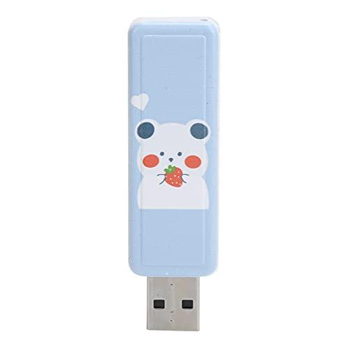 QiruIXinXi Tipo de cubierta deslizante disco U, patrón de dibujos animados unidad flash USB portátil, palo de memoria de coche, adecuado para almacenar datos como archivos importantes (64 GB)