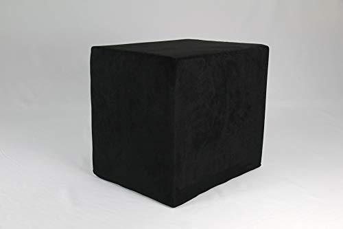 Fränkische Schlafmanufaktur Stufenlagerungswürfel, Bandscheibenwürfel, Lagerungswürfel, mit Microfaserbezug, ca. 45x40x35 Farbe Schwarz