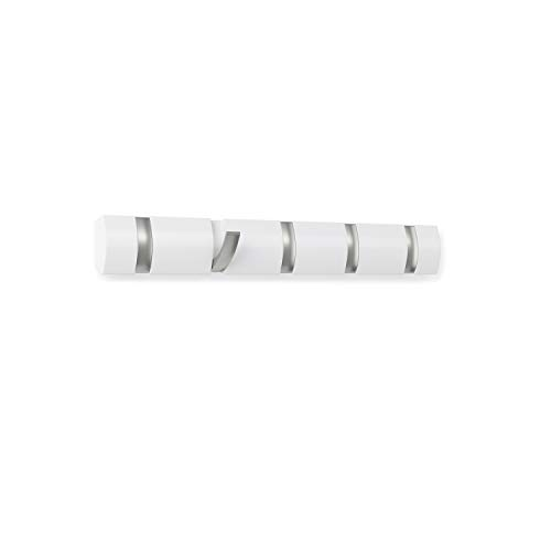 Umbra 318850-660 Percha de pared  Flip 5 Blanco Brillante