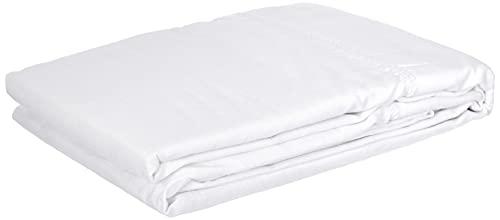 douceur d'intérieur 1640718 Taie de Traversin Uni Coton + Point Bourdon 57 Fils Blanc 185 x 85 cm