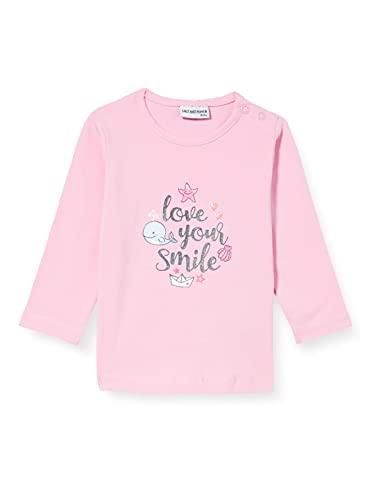 SALT AND PEPPER Baby-Mädchen Longsleeve Seaside Print Glitt Hemd, Candy pink, 80