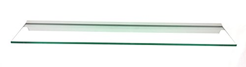 Regale4You Glasregal 80x15 cm /8mm Klarglas Wandprofil LINO8 Alu Silber / 1 Glasablage