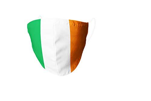 VENGANAILS Designer Alltagsmaske - Irland, Behelfsmaske, Gesichtsmaske, Community Maske, Filtertasche, Handmade, Waschbar bis 60° Maschinenwäsche (Small)