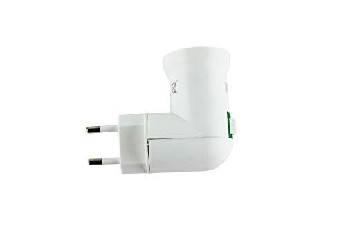 Portalamparas con interruptor E27 blanco,Adaptador de enchufe europeo con interruptor de encendido...