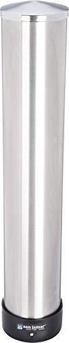 San Jamar c3400p Acero Inoxidable pull-type Dispensador de vasos de bebida, Tubo de 350–710ml Copa, 597mm, 70–98mm de longitud diámetro del borde (estuche de 6) (6unidades)