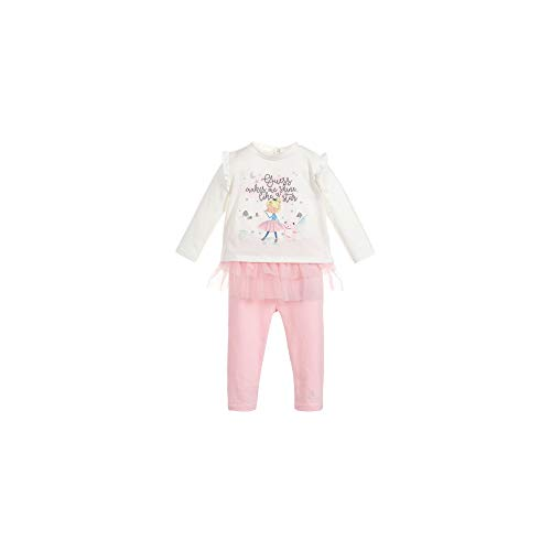 Guess T-Shirt + Legging Bébé Fille Rose et Blanc Gr. 18 Monate, weiß
