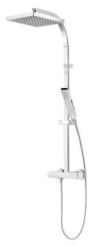 Schulte DuschMaster Rain D9635 Aufputz Brauseset mit Kopfbrause und Thermostatarmatur