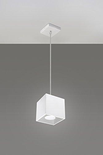 Bauhaus Pendelleuchte (Bauhaus, in Weiß, Rechteckiger Schirm) Schreibtischleuchte Innenleuchte Bürolampe Hängeleuchte Hängelampe Pendellampe