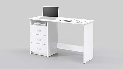Wohnorama Schreibtisch 3 Schubkästen Adria von Bega Weiss by