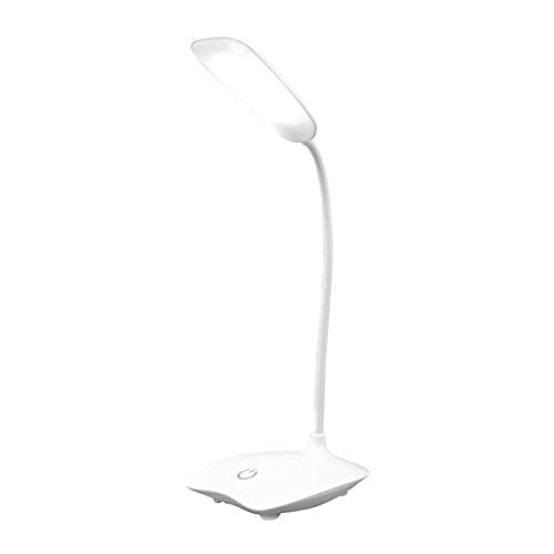 Lámparas de escritorio de cuidado de ojos LED pequeña lámpara lámpara dormitorio lectura de lectura lámpara control protección ojo protección de noche luz de noche 360 grados ajustable cuello de cis