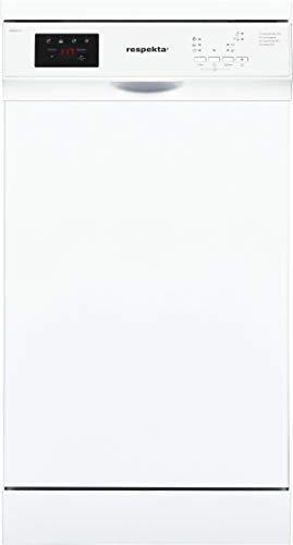 respekta Standgeschirrspüler, 45 cm teilintegriert GSPS45A++V EEK: A++, weiß