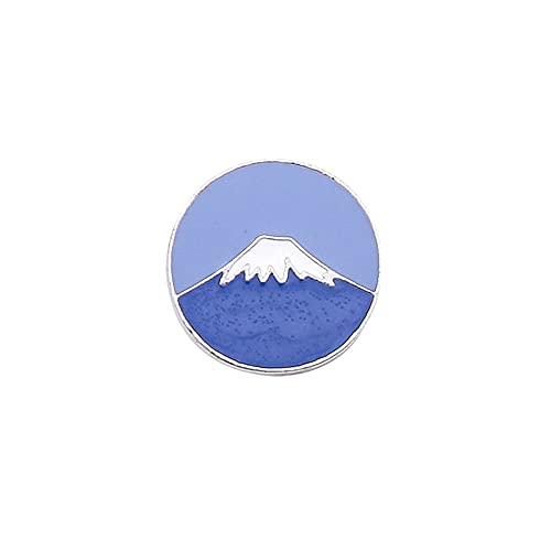 WQSM Monte Fuji Sun Moon Tonghui Broche Japonés Lindo Pequeño Insignia Ins Tendencia Personalidad Bolsa Pin Ropa Joyería Novia Joyería