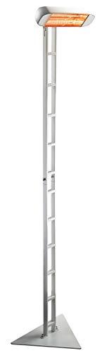HELIOSA 991 mit neuem Licht - AMBER LIGHT - Ständer SCALA KOMPLETT mit Infrarotstrahler 1500 Watt IPX5, aus robustem Aluminium-Druckguss hergestellt und mit thermoplastischen Lacken für den Außenbereich lackiert. Kurzwellen - Heizstrahler für Indoor und Outdoor geeignet, Farbe: Weiß