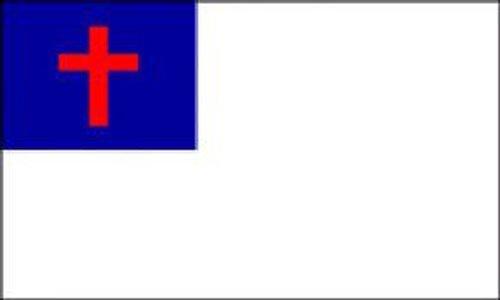 Smiffy's Novelties Direct Christian drapeau 5 ft x 3 ft) 100% Polyester (avec oeillets pour suspension