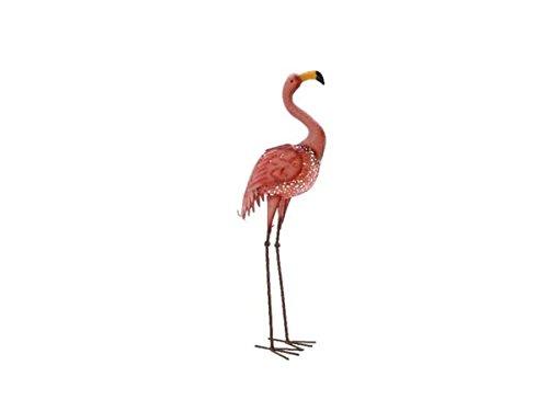 Kaemingk 894529 LED Solar Flamingo 78 cm Metallfigur 78 cm mit Solarpanel 3 LED