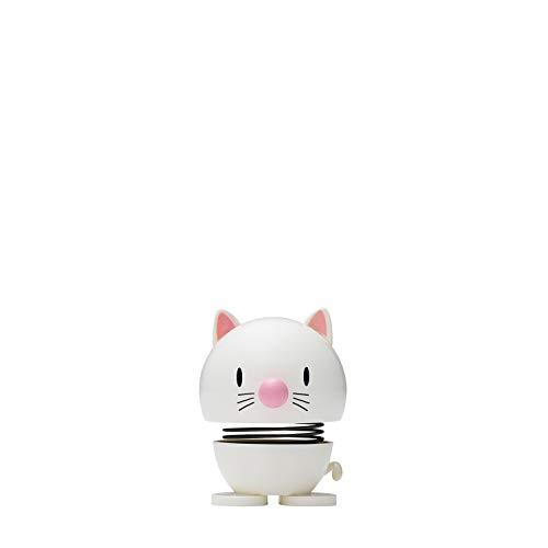 Hoptimist - Animals - Skandinavisches Design Deko Figuren (Small - Katze - Weiß)