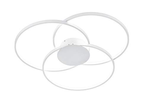 Trio Leuchten Sedona Lampada da soffitto 40 W, Bianco Opaco
