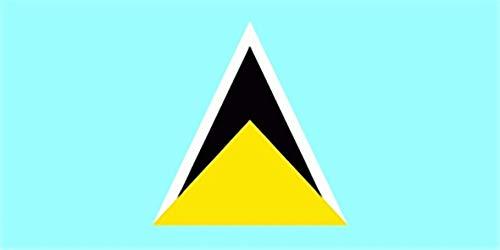 UB Fahne/Flagge St. Lucia 90 cm x 150 cm Neuware!!!