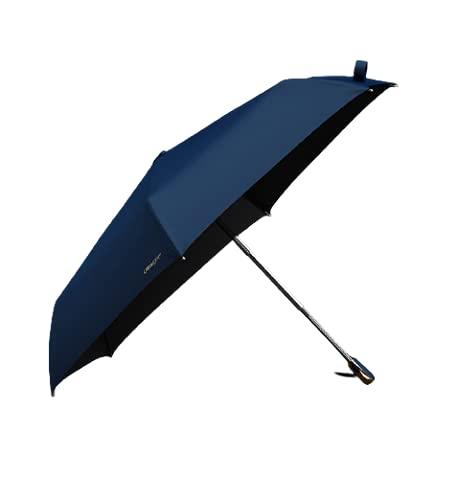 Lecline 折りたたみ 傘 UPF+50 ベーシック コンパクト 4cm 高級 雨晴兼用 軽量 260g (ブルー)