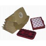 LeaBen - Set per aspirapolvere LUX1 D820 Royal Classic, 10 sacchetti, 1 microfiltro igienico, 1 filtro antiodore
