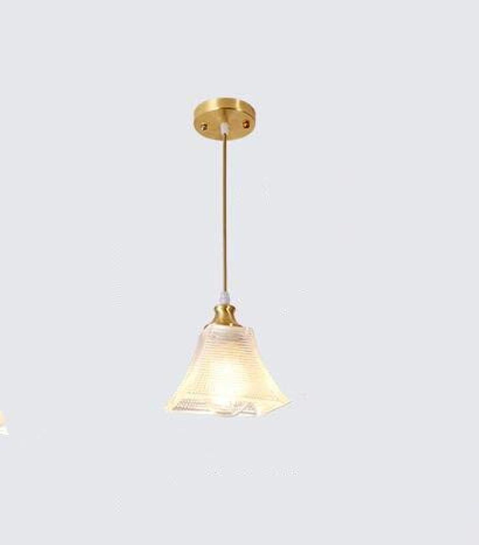 ASDYong Europische Kronleuchter Kreative Amerikanische Kupfer Restaurant Einzelkopf Kronleuchter Moderne Minimalistische Nordic Bar Home Gast Restaurant Beleuchtung (195mm  155mm) 220 V