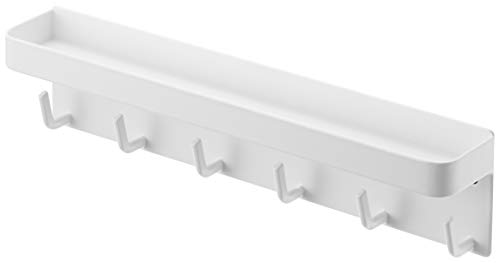 Yamazaki Home Smart Magnetschlüssel Rack mit Tablett weiß
