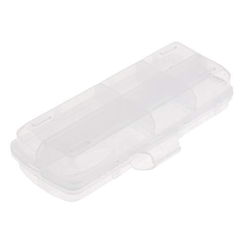 Baoblaze Coffrets de Rangement Transparents pour Boîtes de Pêche à 12 Compartiments à Côté Double