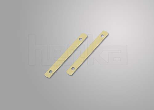 Deckleisten aus Metall, messingfarbig, 95 mm lang, Lochung 80mm, 100 Stück