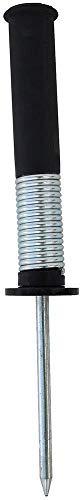 Boje Sport Hülse mit Federgelenk und Metallspitze für Stangen Ø 25 mm, Farbe: schwarz