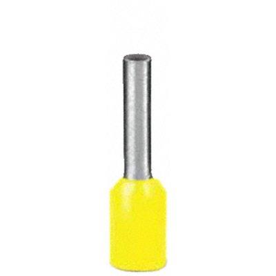 100 x Aderendhülsen-Sortiment - Farbe GELB - isoliert - Querschnitt 1,0qmm / 1,0mm² Länge 8 mm
