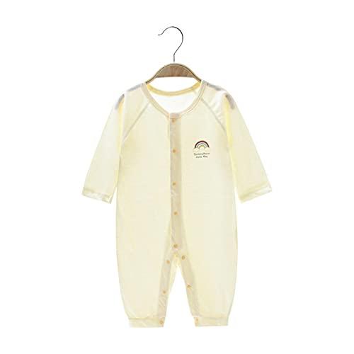 Macacões de verão de algodão fino de manga comprida para bebês roupas de bebê para homens e mulheres roupas de ar-condicionado
