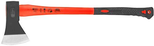 Connex Axt 1250 g - Vibrationsarmer Glasfaserstiel - Ideale Kraftübertragung - Gummiertes Griffende - Zur Bearbeitung von Holz / Universalaxt mit Schneidschutz / Spaltaxt / Fällaxt / COX840412