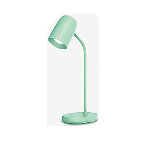 La lámpara de Escritorio de protección Ocular ABS con Brillo Ajustable es Adecuado for el Estudio de Dormitorio (tamaño: 106 * 140 * 400mm) (Color : Green)