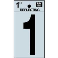 Hy-Ko Vinyl Number Reflective 1 Black 1-1/4 by Hy-Ko