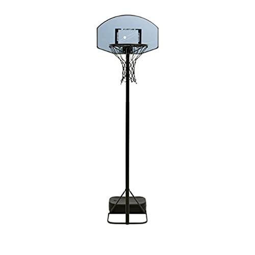 Reemplazo de red de baloncesto resistente Hoopm de baloncesto para niños, altura ajustable, aro de baloncesto portátil para niños adolescentes con ruedas de soporte y placa base Base Aro de baloncesto