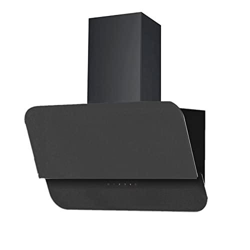 Vlano VENUS 600 PLASM BK • Dunstabzugshaube PLASMA UMLUFT schwarz • bis 500 m³/h Abluftleistung leise: unter 50 dB (A) dB LED Touch (60 cm mit PLASMA Umluft Set)
