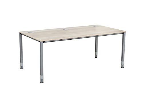 Sedus Büromöbel Schreibtisch Bürotisch Modell Temptation C Mit Norm-Höhenverstellung In Akazie, Geprüft Und Gebraucht, 68-78x180x90cm (Zertifiziert und Generalüberholt)
