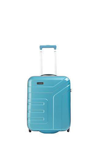 travelite 2-Rad Handgepäck Koffer mit TSA Schloss erfüllt IATA Borgepäck Maß, Gepäck Serie VECTOR: Robuster Hartschalen Trolley in stylischen Farben, 072007-21, 55 cm, 44 Liter, türkis