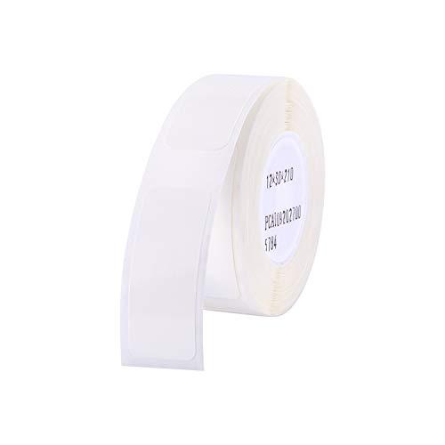 Aibecy Etikettenrollen Labeldrucker Etikettenpapier Barcode Preis Größe Name Blankoetiketten Wasserdicht Reißfest für Home Organizer Supermarkt Shop Catering