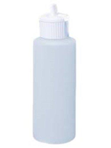 1 Oz Plastic Cylinder Bottles with Flip Top Pour Spout, Pack of 12