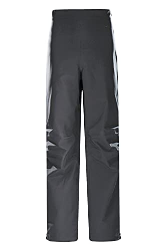 Mountain Warehouse Ultra Typhoon Mens Waterproof Overtrousers -20,000mm, Breathable, Taped Seams, 2 Way Zip Rain Pants -Best for Wet Weather, Walking, Outdoors & Camping Negro L