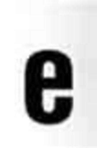 RZB Zimmermann Buchstabe e 99222.013.E/K sw 100mm klein Beschriftung für Hausnummernleuchte 4010319326612