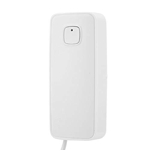 Alarma de Nivel de Agua, Sensor de inundación de Agua WiFi Inteligente Detector de Fugas de Agua Alertas de notificación de la aplicación Alarma de Fugas de Agua en el hogar 24/7 Gratis